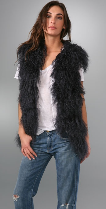 Young Fabulous & Broke Faux Fur Vest