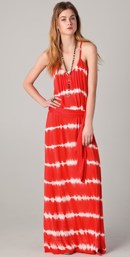 Young Fabulous & Broke Whitely Tropical Stripe Maxi Dress