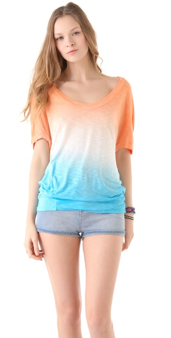 Young Fabulous & Broke Calinda Sunset Ombre Top
