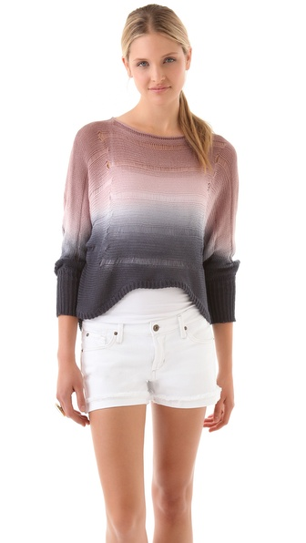 Young Fabulous & Broke Rainbow Colorblock Sweater