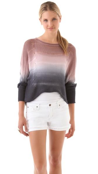 Young Fabulous & Broke Rainbow Colorblock Sweater