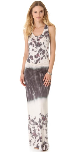 Young Fabulous & Broke Hamptons Watercolor Border Maxi Dress