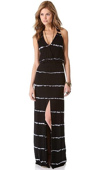 Young Fabulous & Broke Garnet Striped Maxi Dress