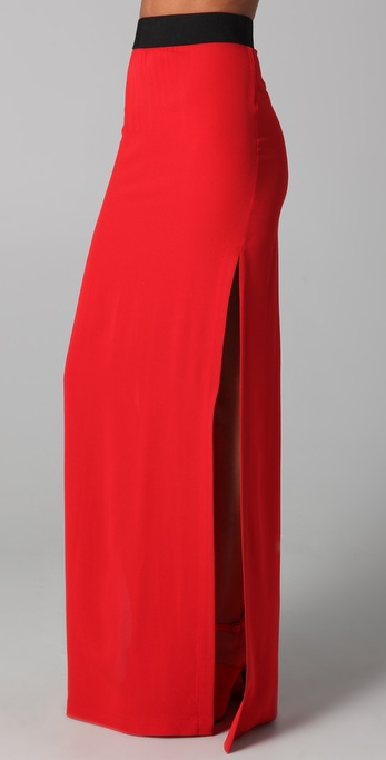 Yigal Azrouel Side Slit Maxi Skirt