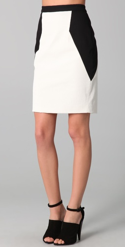 Yigal Azrouel Colorblock Skirt