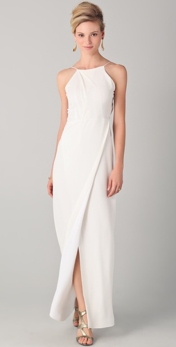 Yigal Azrouel Slit Gown with Open Back