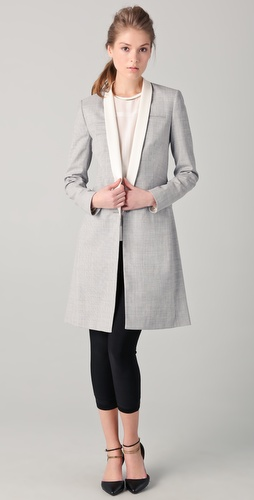 Yigal Azrouel Grey Check Blazer