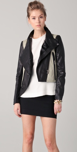 Yigal Azrouel Lambskin Jacket with Elbow Vents