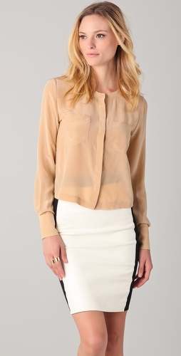 Yigal Azrouel Blouse with Front Pockets