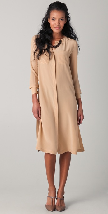 Yigal Azrouel Silk Midi Shirtdress