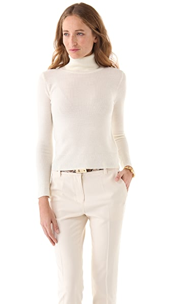 Yigal Azrouel Waffle Knit Turtleneck Sweater