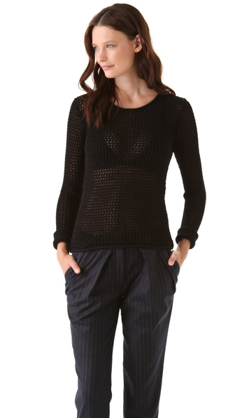 Yigal Azrouel Mesh Knit Sweater