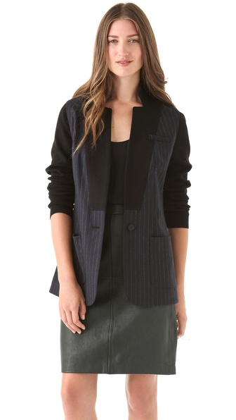 Yigal Azrouel Pinstriped Wool Blazer