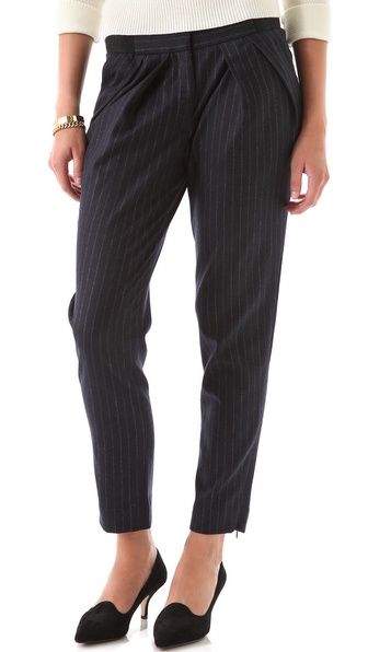Yigal Azrouel Pinstriped Wool Pants