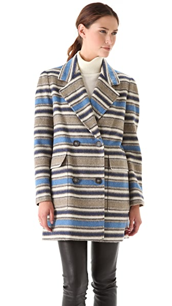 Yigal Azrouel Block Stripe Wool Jacket