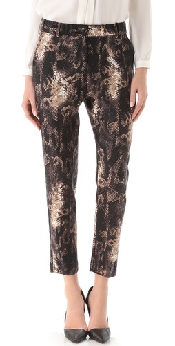 Shop Yigal Azrouel Python Print Pant and Yigal Azrouel online - Apparel,Womens,Bottoms,Pants,Trousers, online Store
