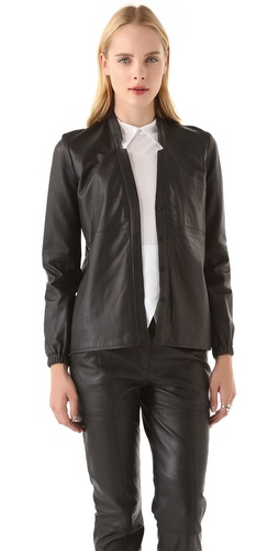Shop Yigal Azrouel Leather Blouse and Yigal Azrouel online - Apparel,Womens,Tops,Blouse, online Store