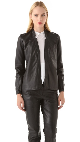 Yigal Azrouel Leather Blouse
