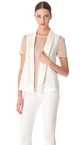 Yigal Azrouel Double Crepe Georgette Vest