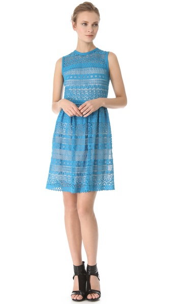 Yigal Azrouel Venice Geo Lace Dress