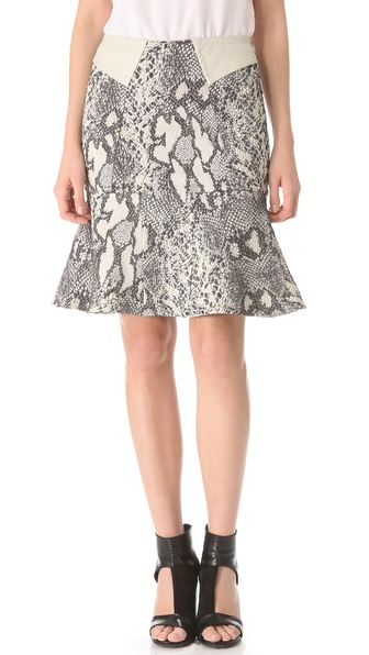 Yigal Azrouel Reptile Jacquard Skirt