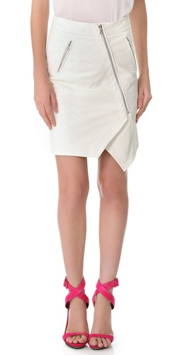 Yigal Azrouel Python Leather Skirt