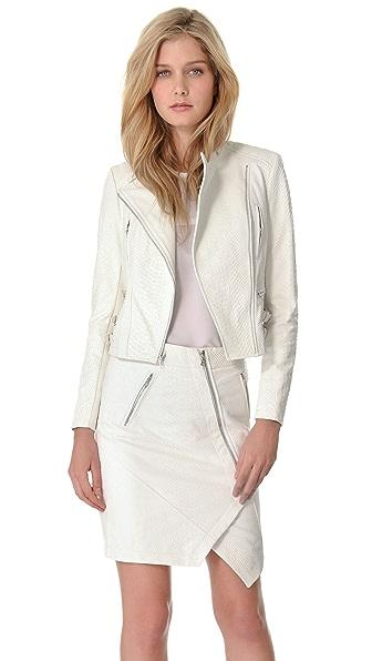 Yigal Azrouel Python Embossed Leather Jacket