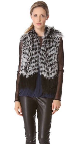 Yigal Azrouel Hooded Fur Vest