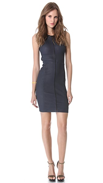 Yigal Azrouel Stretch Leather Dress