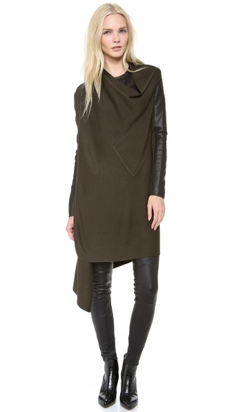 Yigal Azrouel Double Knit Drape Cardigan