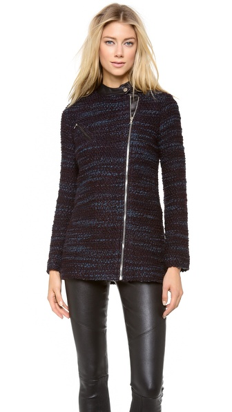 Yigal Azrouel Marble Chunky Knit Jacket