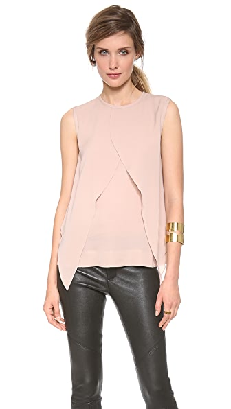 Yigal Azrouel Ruffle Georgette Top