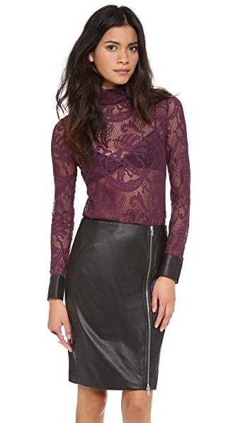 Yigal Azrouel Stretch Lace Top