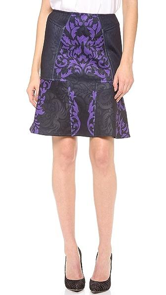 Yigal Azrouel Brocade Scuba Skirt