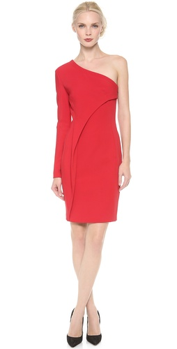 Yigal Azrouel Bi Stretch Tech One Shoulder Dress