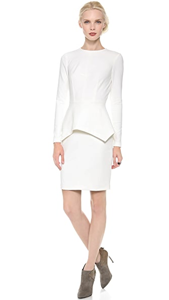Yigal Azrouel Stretch Dress with Peplum
