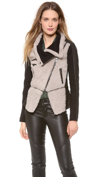 Yigal Azrouel Shearling Leather Jacket