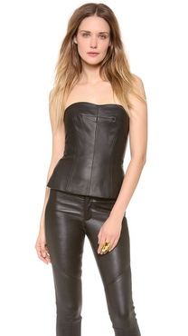 Yigal Azrouel Leather Bustier