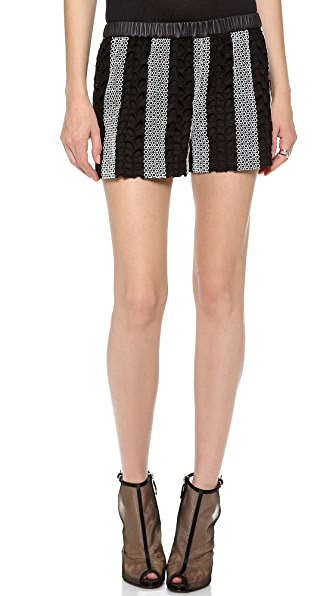 Yigal Azrouel Cotton Eyelet Shorts