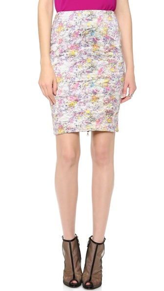 Yigal Azrouel Kaleidoscope Pencil Skirt