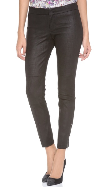 Yigal Azrouel Embossed Stretch Leather Pants