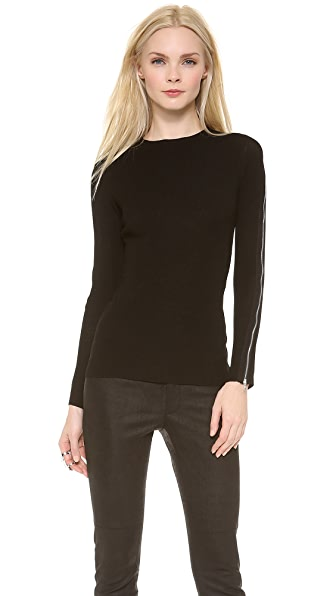 Yigal Azrouel Shiny Knit Top
