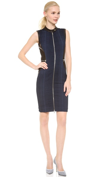 Yigal Azrouel Stretch Reptile Jacquard Dress