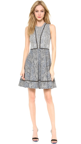 Yigal Azrouel Circle Mesh Tape Dress