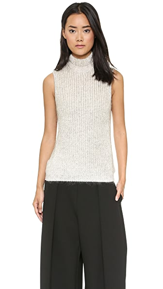 Yigal Azrouel Half Sweater Turtleneck Tank