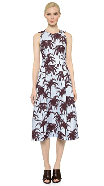 Kupi Yigal Azrouel haljinu online i raspordaja za kupiti Yigal Azrouel Sleeveless Hawaiian Dress Foam Multi online