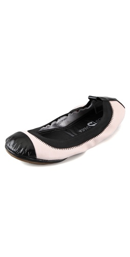 Yosi Samra Elastic Top Line 2 Tone Ballet Flats