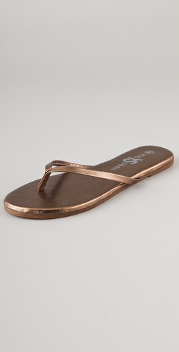 Yosi Samra Metallic Flip Flops