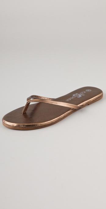 Yosi Samra Metallic Flip Flops