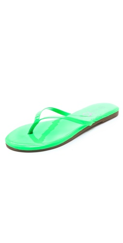 Yosi Samra Neon Patent Flip Flops